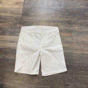 Michael Kors White Bermuda Shorts Size 8